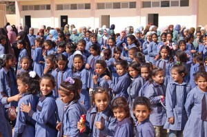 IRD establishes community groups in Jordan to support their local schools and promote women's education, including this girls school in Wadi Rum. [Source: flickr, IRD]
