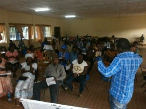 Bridging Communities Network consultation in Tonkolili District.
