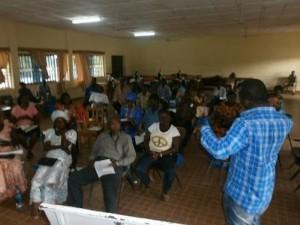 Bridging Communities Network consultation in Tonkolili District.